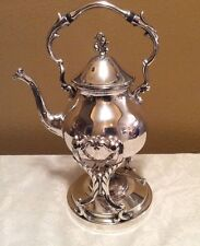 Vintage GSC Silver Plated TILT COFFEE TEA POT WITH STAND & BURNER