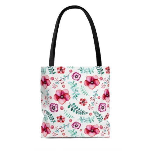 Details about  /Floral in White AOP Tote Bag
