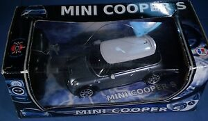 1:24 scale Mini Cooper S radio control R/C silver blue w/white top