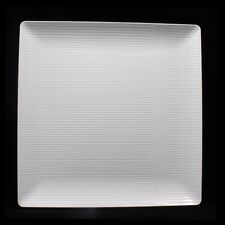 10 Heavy Duty Disposable Plastic Plates Linear Squared Design Wedding China Like & 50 Clear Plastic Plates Heavy Duty Extra Strong Large 10.25 ...