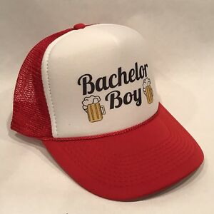 Details about Bachelor Boy! Parks & Recreation Trucker Hat Beer Logo  Snapback Retro Rec Cap