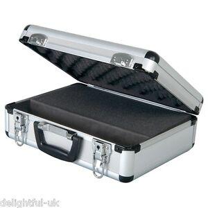 Image Is Loading Aluminium Microphone Mic Case Metal Lockable Storage Box