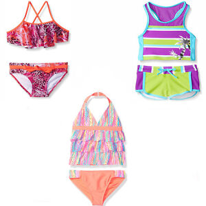 a677d691b6 Image is loading Girl-2-Pc-Swimsuit-5-6-10-12-