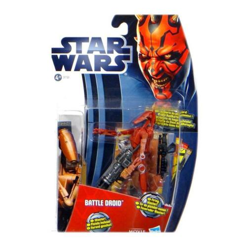 Hasbro 37751 MH04 Star Wars Battle Droid Red Movie Heroes blaue Karte Neu