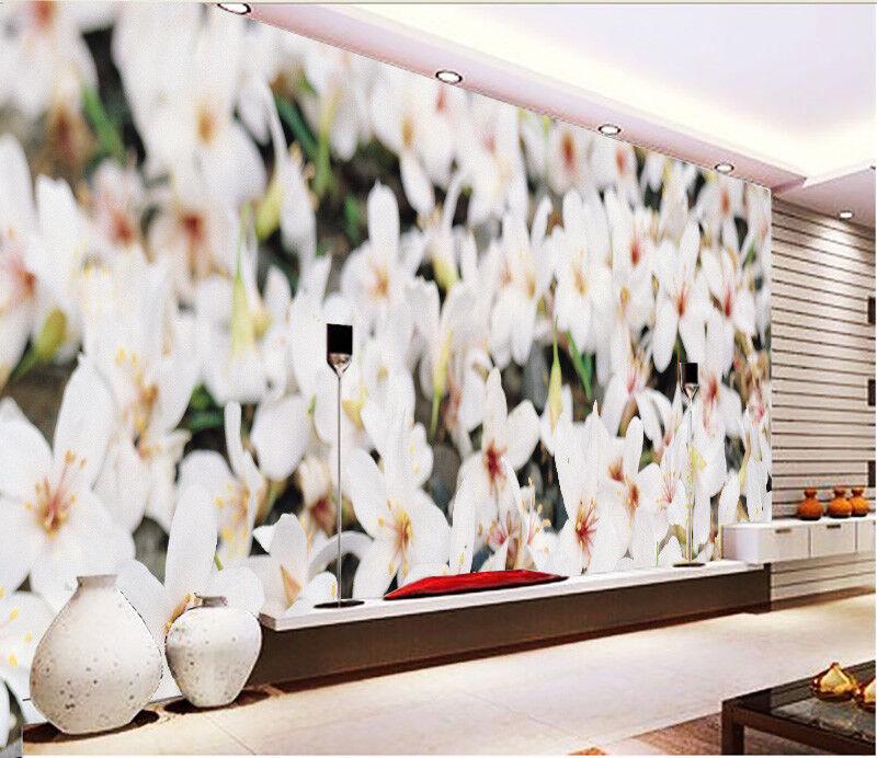 3D Petal Weiß 4322 Wallpaper Murals Wall Print Wallpaper Mural AJ WALL UK Lemon
