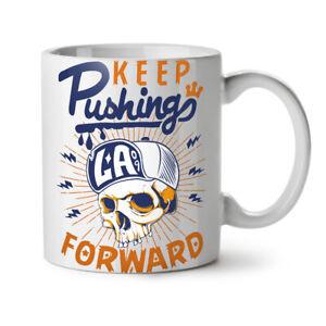 Keep Pushing NEW White Tea Coffee Mug 11 oz | Wellcoda