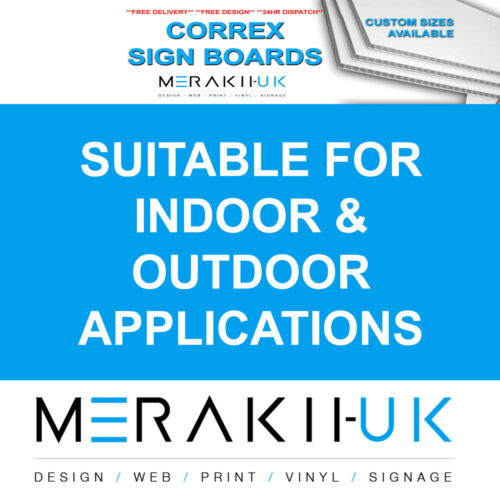 5x A0 Correx Sign Boards Outdoor Advertising Full Colour Print  CHEAPEST ON
