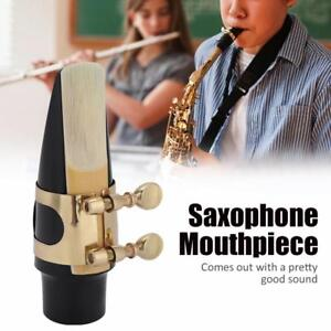 ABS-Plastic-Mouthpiece-with-Cap-Reed-Pads-and-Metal-Clip-for-Tenor-Sax-Saxophone