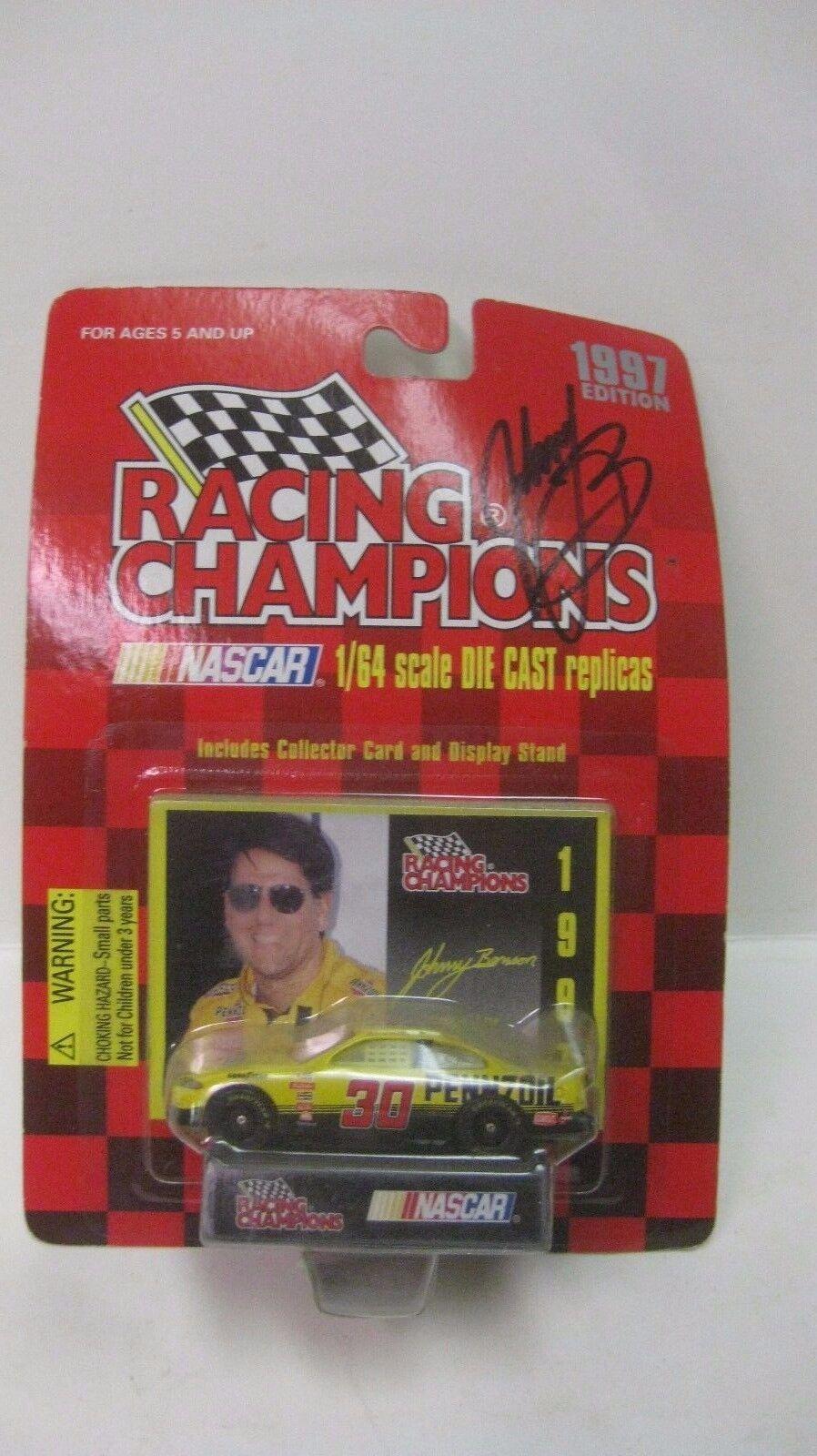 Nascar 1997 Edizione Johnny Benson Autografato Gran Premio 1 64 Pressofuso Nuovo