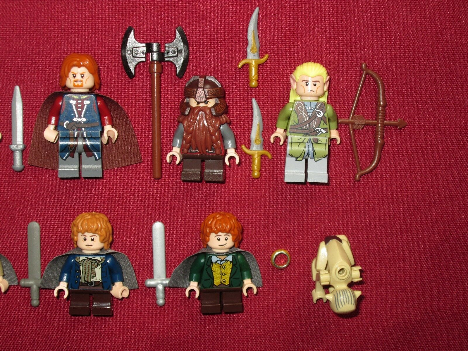 LEGO LOTR minifigures FELLOWSHIP OF OF OF THE RING LOT Gandalf,Boromir,Merry,Pippin + 7a5528