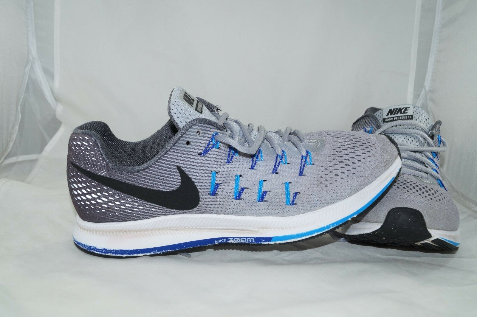 Nike Zoom Pegasus 33 GR  43 calzado deportivo gris zapatillas