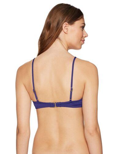 Navy 8 Trina Turk Women's Studio Solids Over-The-Shoulder Bralette Bikini Top