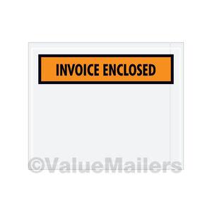 1000 4.5x6 (fattura chiusa anteriore/FATTURA racchiuso Imballaggio buste elenco