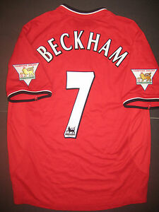 5315089742 Image is loading 2001-2002-Umbro-Manchester-United-David-Beckham-Jersey-