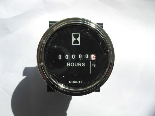 hour meter 9-80VDC hourmeter Round Black Hour Meter 4 Boat Car Truck SS generic