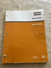 Case 360 Trencher Parts Manual