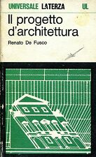 Renato De Fusco = IL PROGETTO DI ARCHITETTURA