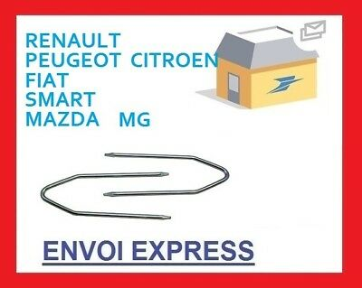 Chiavi chiavette estrazione autoradio Renault CLIO dal 2001 stereo car KEYS