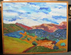 Paul Urban Santa Rosa Plateau CA Oil Painting 11 1/2 x 15 signed framed 1995
