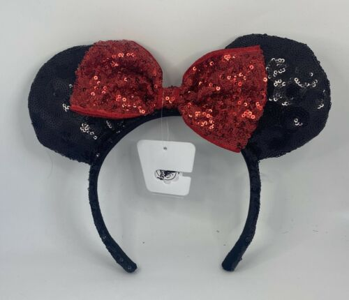 Disney Parks Black And Red Minnie Ears Headband ⭐️