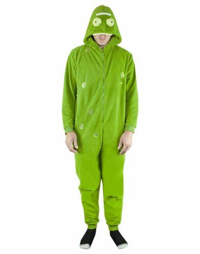 Rick and Morty Pickle Rick Green Pyjamas Men/'s//Women/'s Hooded Sleep Suit