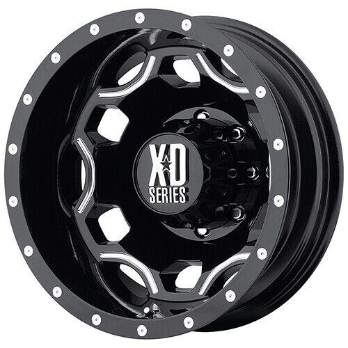 XD Series 22x8.25 XD815 Batallion Dually Wheel Gloss Black Milled 8x210-175mm