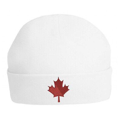 Canadian Maple Leaf Baby Cappello-ricamato Idea Regalo / Canada / Baby Cappello Beanie- Modellazione Duratura