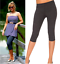 in Palestra alta sportiva Cropped Grafite di Short Ladie's Length cotone qualità Run Leggings aq8T8FZx