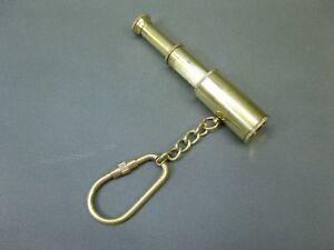 Mini Messing Teleskop  Fernrohr Fernglas Schlüsselanhänger 8 cm nautisch