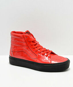 Details about Vans x David Bowie Ziggy Stardust Sk8 Hi Platform 2.0 DB Red Patent Leather Mens