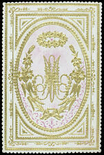 santino litografia 1800 MONOGRAMMA NOME DI MARIA a rilievo