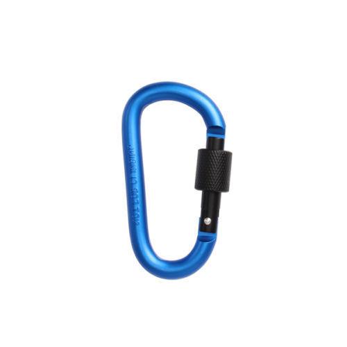10Pcs Large Climbing Locking Carabiners D Ring Spring Snap Key Chain Clip