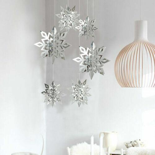 Snowflakes Hanging Decorations Christmas Party Pendant Xmas Ornaments Home Décor