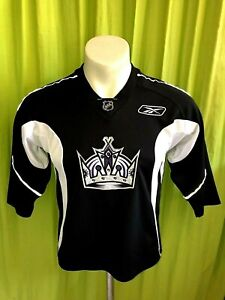 check out 72fa6 42316 Details about KIDS M 10-12 WOMEN S Reebok LA KINGS HOCKEY JERSEY SEWN SHIRT  LAKERS DODGERS CCM