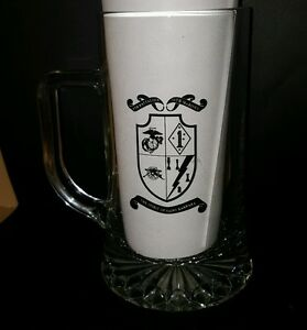 USMC-5th-Battalion-11th-Marines-Clear-Beer-Glass-20-Oz-Spirit-of-Saint-Barbara