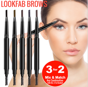 LOOKFAB Eye Brow Definer & Brush Pencil Duo Double Ended Eyebrow Definer Brow