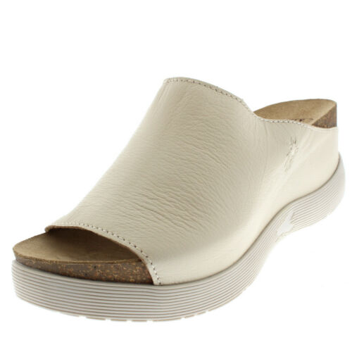 Womens Fly London Wigg Mousse Sandals Open Toe Leather Mules Wedge Heel US 5-11