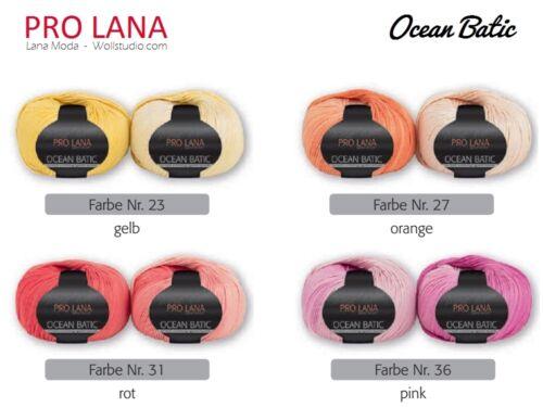 9,00€//100g *Ocean Batic* ProLana stricken häkeln Farbverlauf in Batikcolor 50g