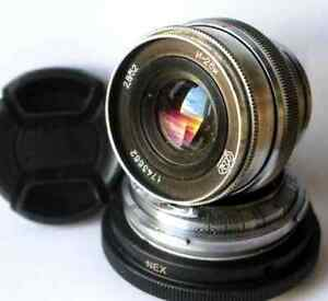 Contax-RF-Mount-to-Sony-NEX-a7-E-Mount-Adapter-fast-antik-Objektiv-Cap