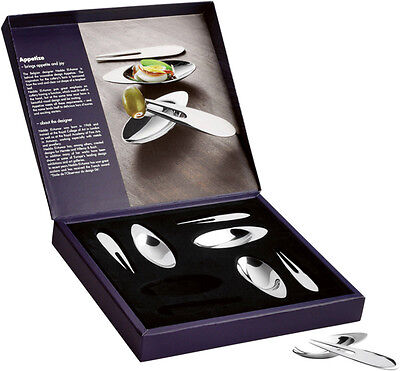 Appetize Appetizer Set 8 Pcs 18/8 Stainless Steel From Gense Made in Sweden