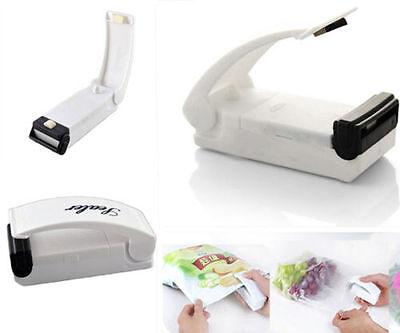 1 Pc Portable White Sealing Tool Heat Mini Handheld Plastic Bag Impluse Sealer