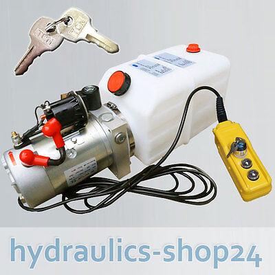 2019 Mode Hydraulikaggregat 7l, Hydraulik Pumpe 12 V 180 Bar 2000w Lkw, Kipper, Anhänger