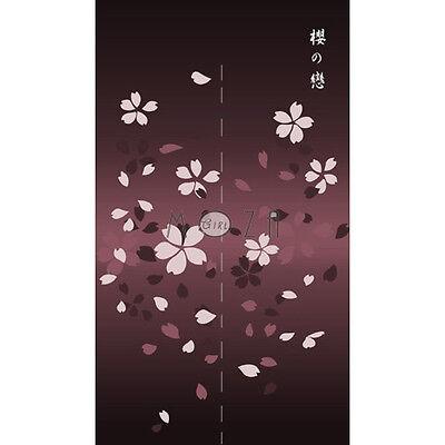 Japanese Noren Tapestry Door Curtain Cherry Blossom 100% Polyester 82cm x 140cm