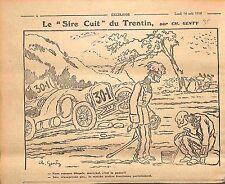 Humour anti-Boche Maréchal Hindenberg Bataille du Trentin Dessin Genty WWI 1916