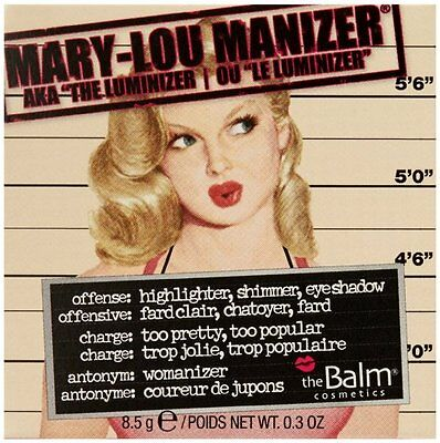 The Balm Mary Lou Manizer Highlighter Face & Eyes powder S&S .3oz 100% AUTHENTIC