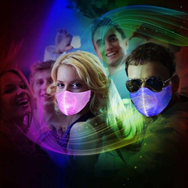 LED Light Mask Half Face Masks Halloween Cosplay DJ Party Prop Cool Gift