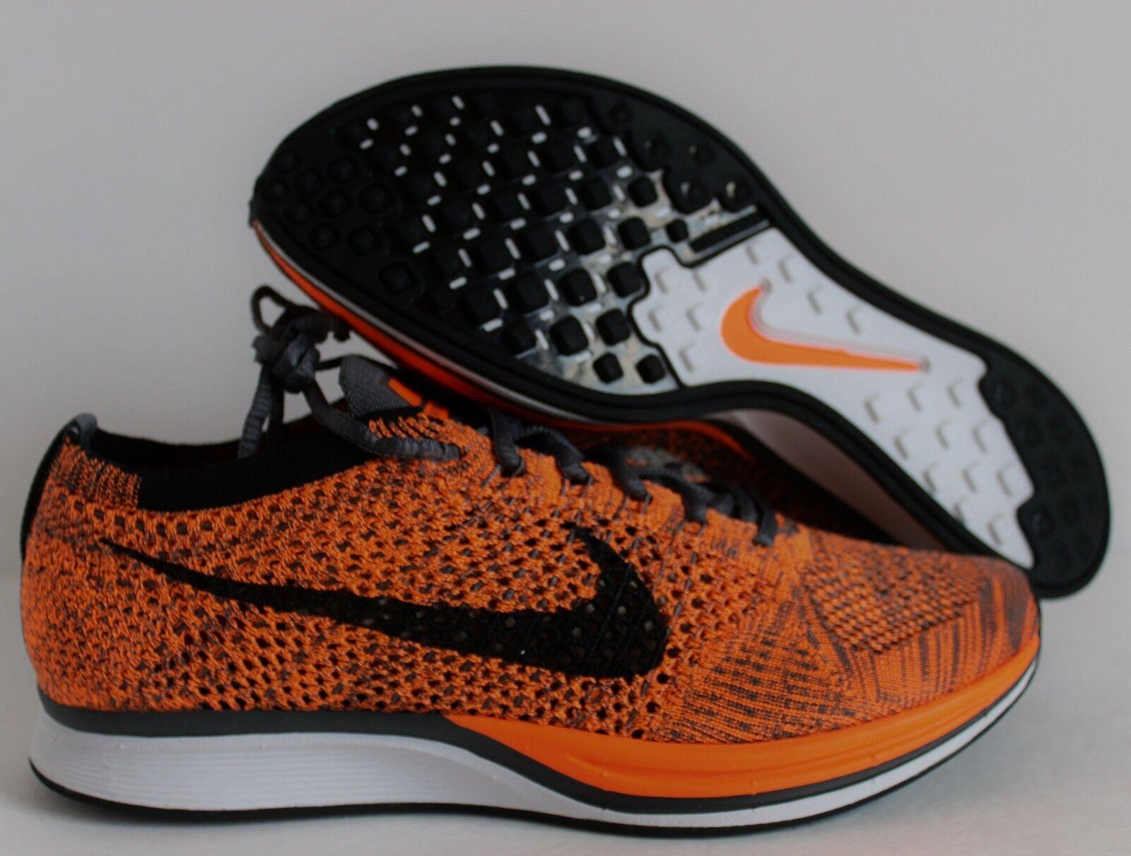 Nike uomini flyknit racer totale orange-white-dark grey sz 12 [526628-810]