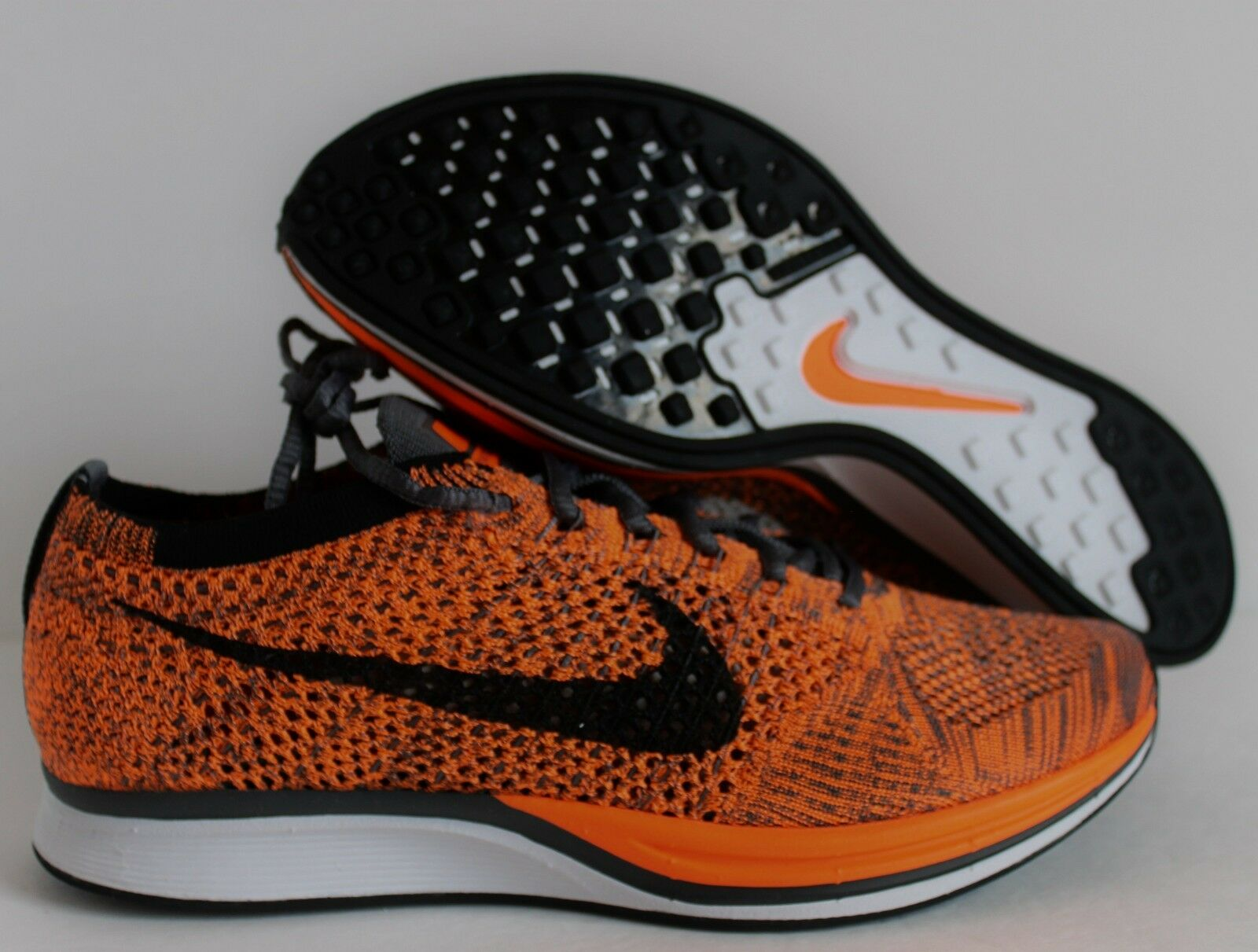 Nike  flyknit racer insgesamt orange-Weiß-Grau orange-Weiß-Grau insgesamt sz 7 / frauen / sz 8,5 bd3960