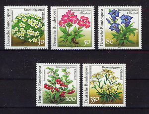 ALEMANIA-RFA-WEST-GERMANY-1991-MNH-SC-1630-1634-Flowers