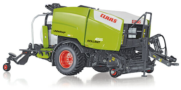 WIKING 1 32 TRATTORE IN METALLO ROLLANT CLAAS 455 UNIWRAP 14+  7320